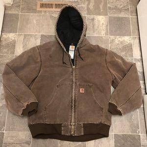 Men's vintage carhartt lined work jacket sz L